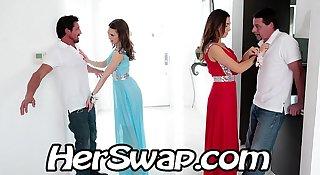 Riley Reid vs Melissa Moore Hump  BFF Dad at Prom Night