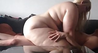 Hot Blonde BBW Gets Laid