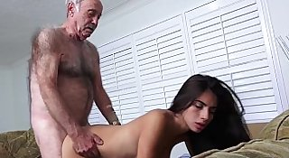 Latina Teen Fucks Old Man Frankie