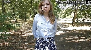 shy teen does porn casting