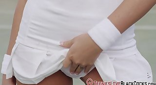 Tennis teen jizz black