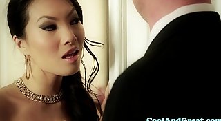Cumswapping asian babes hot ffm action