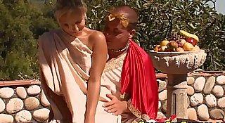 Costume amateur outdoors facialized after sex
